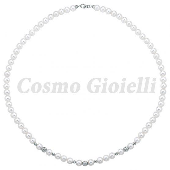 Collana Perle KYOTO (3SF-SFAC+6LUC O/B) (MADE IN ITALY)